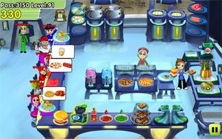 Cooking Dash screenshot: Crater Cafe