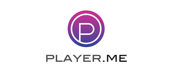 Player.me black logo