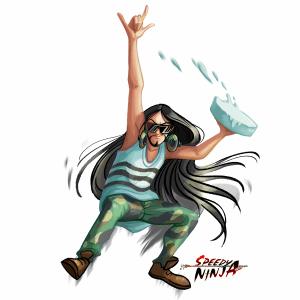 Speedy_Ninja_Steve_Aoki_Art