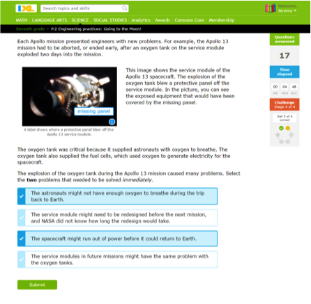 IXL Releases Adaptive Middle School Science and Social